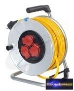 GE-10343 K35 AT-N07 V3V3-F 3G1,5 25m Kábeldob fém IP44 sárga