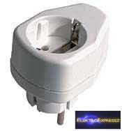 GE-860 Adapter, ha kevés a dugalj , DUGVILLA+DUGALJ 2P+F SOLERA