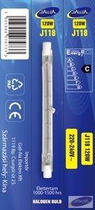 GE-J118240V120W Eco-halogén izzó 118mm 240V 120W