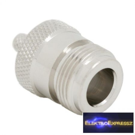 GA-05190 N aljzat RG 58-hoz • 50 ohm krimpelős aranyozott tüske