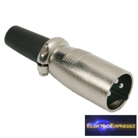 GA-05205 XLR dugó • 3 pólusú Csavaros, fém kivitel Gumírozott törésgátló
