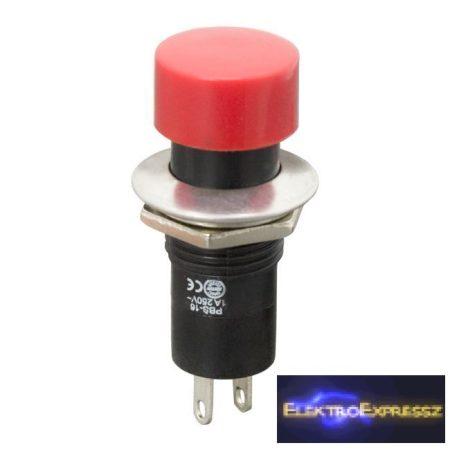 GA-09076PI Nyomógomb 1 áramkör 1A-250V ON-(OFF) piros