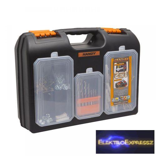 GA-10958 - 2 az 1-ben műanyag fúró + alkatrész tároló táska