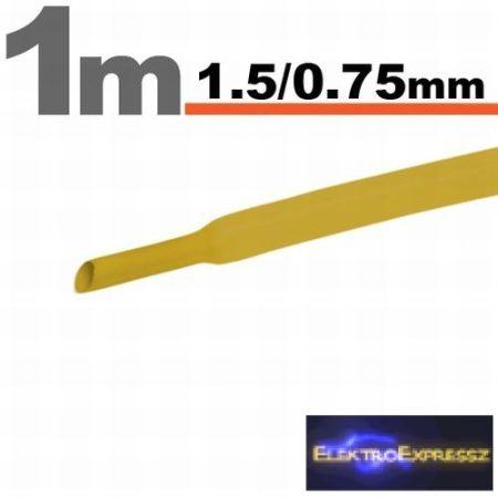 GA-11019S Zsugorcső Sárga • 1,5 / 0,75 mm