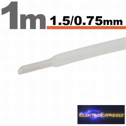 GA-11019T Zsugorcső Áttetsző • 1,5 / 0,75 mm