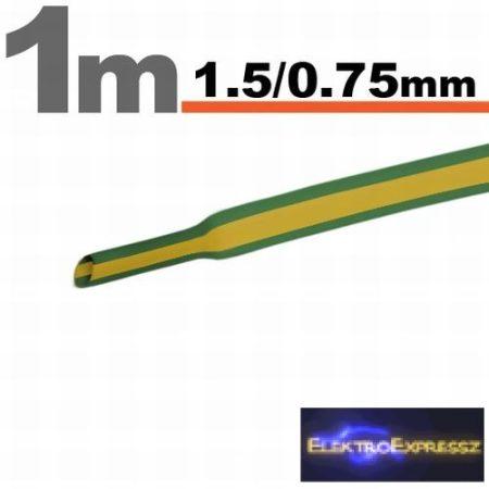 GA-11019X Zsugorcső Zöld/sárga • 1,5 / 0,75 mm