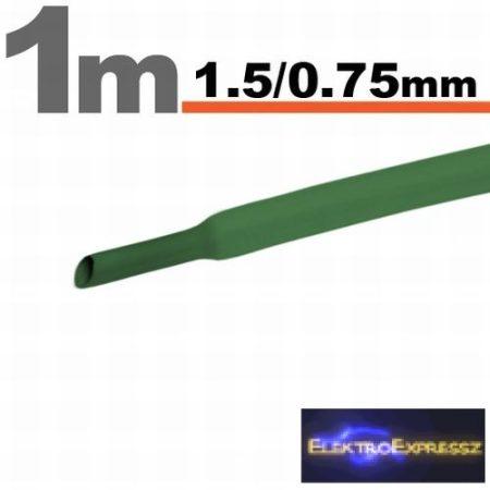 GA-11019Z Zsugorcső Zöld • 1,5 / 0,75 mm