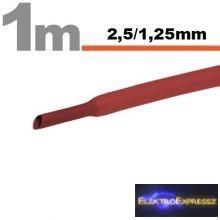GA-11020P  piros zsugorcső  2,5 / 1,25 mm
