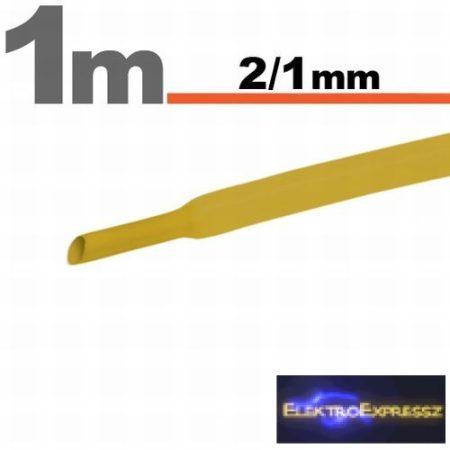 GA-11020S Zsugorcső Sárga   2,5 / 1,25mm