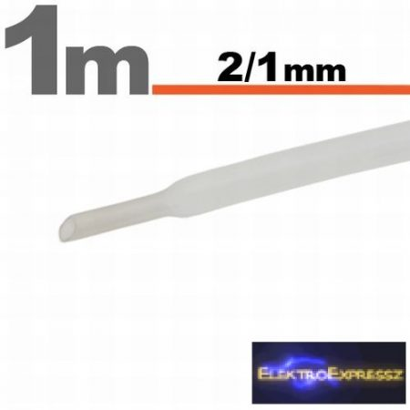 GA-11020T Zsugorcső Transzparens   2,5 / 1,25mm