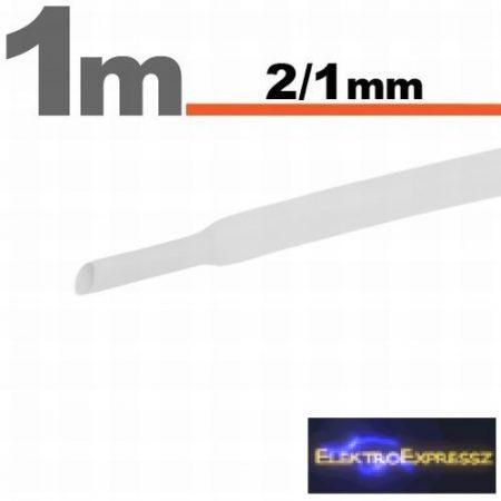 GA-11020W Zsugorcső Fehér  2,5 / 1,25mm