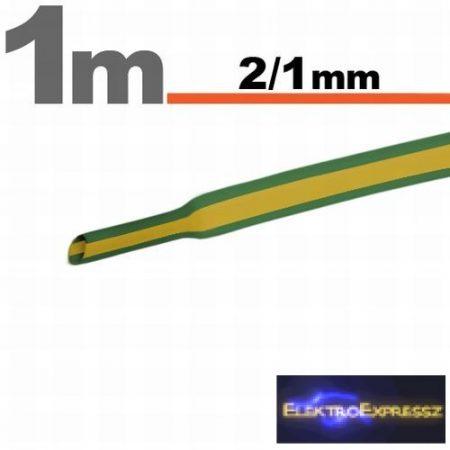 GA-11020X Zsugorcső Sárga-zöld  2,5 / 1,25mm