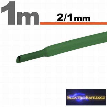 GA-11020Z Zsugorcső Zöld   2,5 / 1,25mm