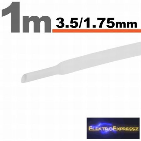 GA-11021W Zsugorcső Fehér • 3,5 / 1,75 mm