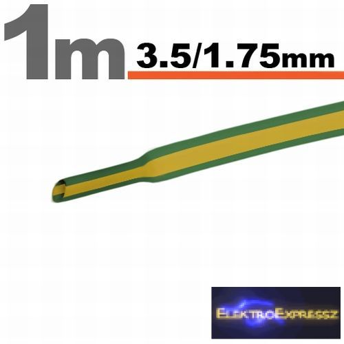 GA-11021X Zsugorcső Sárga-zöld • 3,5 / 1,75 mm