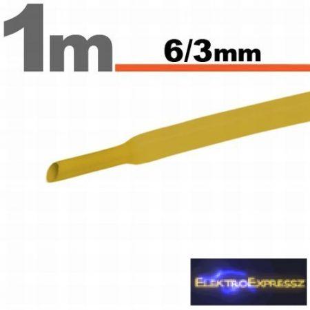 GA-11022S Zsugorcső Sárga • 6 / 3 mm