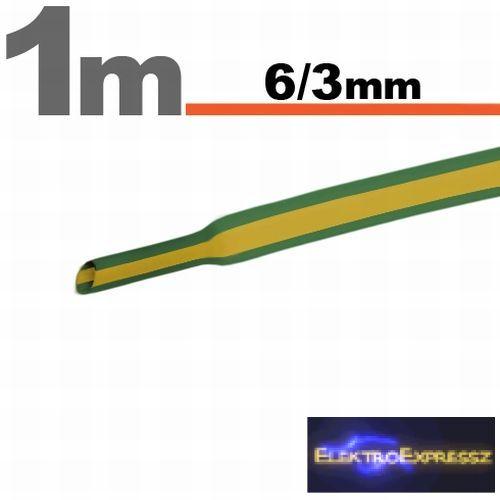 GA-11022X Zsugorcső zöld-sárga • 6 / 3 mm