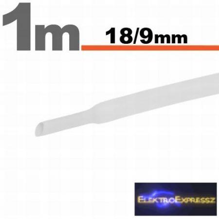 GA-11026W Zsugorcső Fehér • 18 / 9 mm