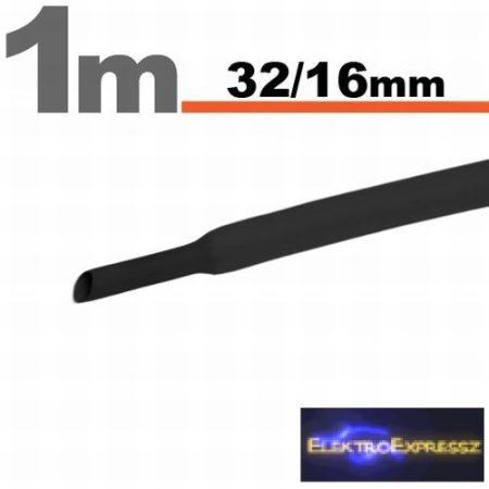 GA-11028F Zsugorcső Fekete • 32 / 16 mm