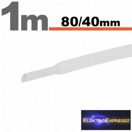 GA-11033W Zsugorcső Fehér • 80 / 40 mm