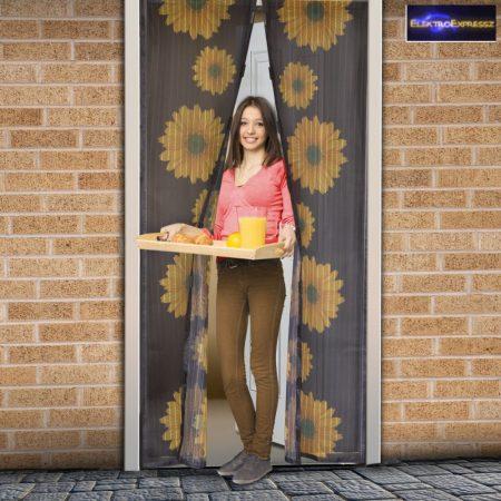 Szúnyogháló függöny ajtóra napraforgó