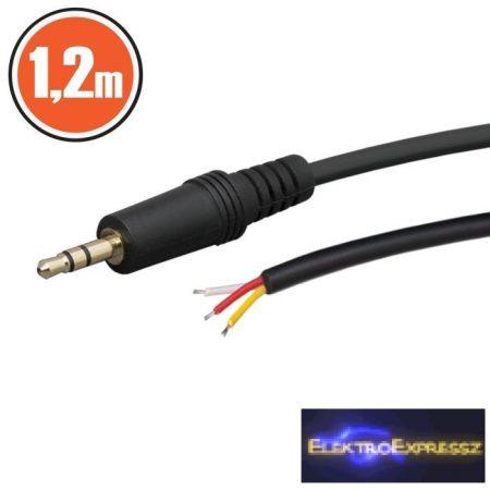 GA-20102 JACK kábel 3,5 stereo JACK dugó 1,2 m