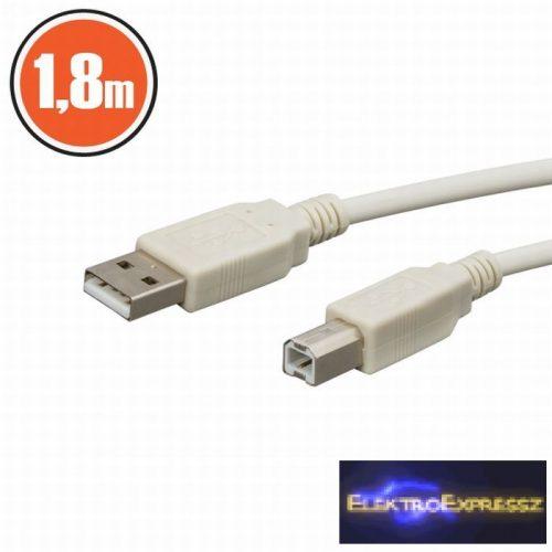 GA-20121 USB kábel A dugó - B dugó 1,8 m