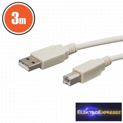 GA-20123 USB kábel A dugó - B dugó 3,0 m