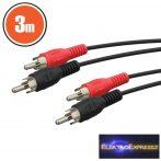 GA-20127 RCA kábel 2 x RCA dugó - 2 x RCA dugó 3,0 m