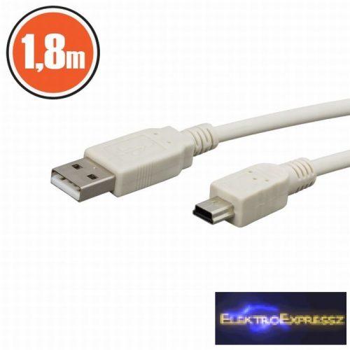 GA-20133 USB kábel A dugó - B dugó (mini) 1,8 m