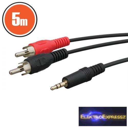 GA-20174 RCA / JACK kábel 2 x RCA dugó - 3,5 st JACK dugó 5,0 m