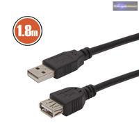 GA-20315 USB hosszabbító A aljzat - A dugó 1,8 m fekete