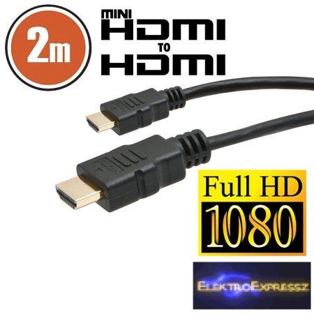 GA-20318 Mini HDMI kábel • 2 m aranyozott csatlakozóval