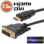 GA-20387 - DVI-D / HDMI kábel • 2,5 m