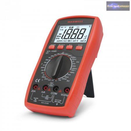 GA-25306 Digitális multiméter induktivitás méréssel