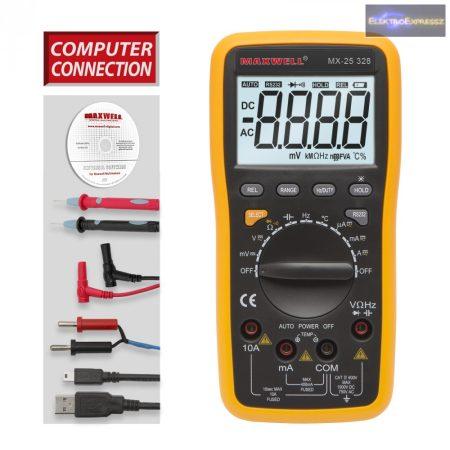 GA-25328 5 az 1 -ben Digitális multiméter USB-s PC kapcsolattal