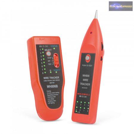 Érpárkereső hangjelzéssel, LED-del - RJ45 kábel teszterrel