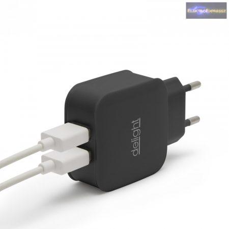 USB Hálózati adapter fekete 5 V - 2.1 A