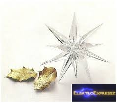 GA-55910 - Csillag 2db/csomag Méret: 80mm karácsonyi dekoráció, dísz, díszítés