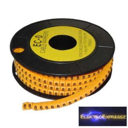 ET-5893AB-6-CS Kábel jelölő 6-os 2,6-4,2mm2