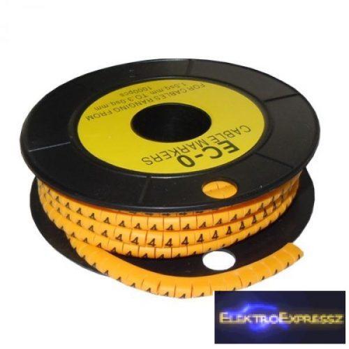 ET-5893AB-4-CS Kábel jelölő 4-es 2,6-4,2mm2