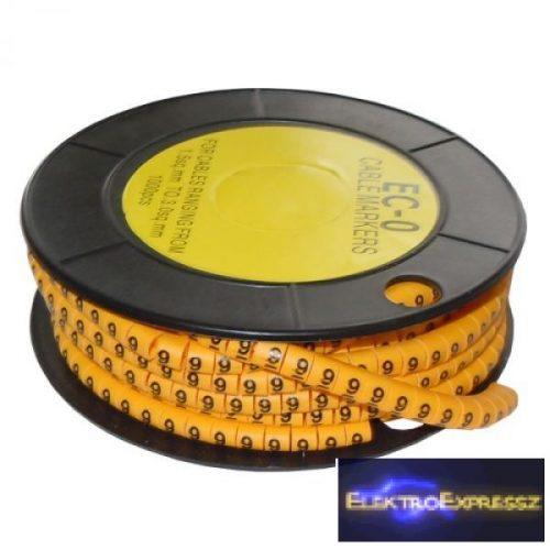 ET-5893AC-9-CS Kábel jelölő 9-es 3,6-7,4mm2
