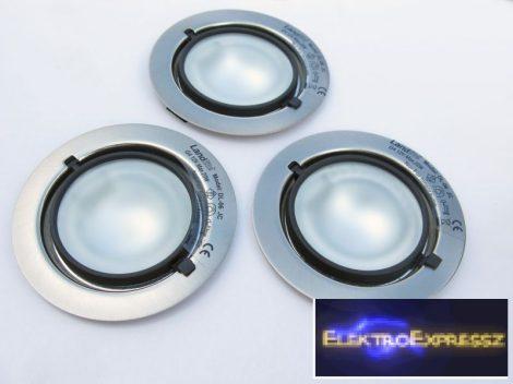 KIT-501-3 (KIT-06-3), 3db JC-20W 12V halogén izzó, fix kivitel, beépíthető lámpa szett (3 db-os halogén szett) arany szinben