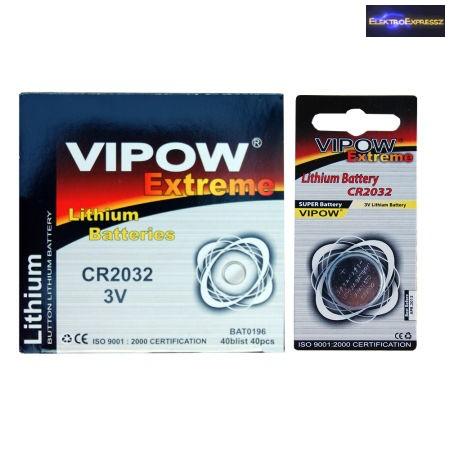 CR 2032 GP lithium gombellem 3V