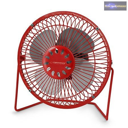 "Esperanza  6"" asztali USB ventilátor piros"
