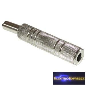 ET-4063B 6,3mm jack sztereó fém lengő aljzat
