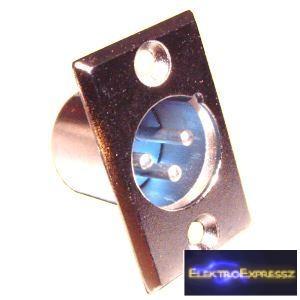 ET-3003 XLR beépíthető, fém dugó.
