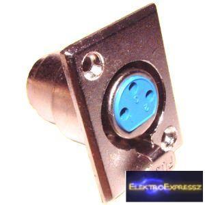 ET-3004 XLR beépíthető, fém aljzat.