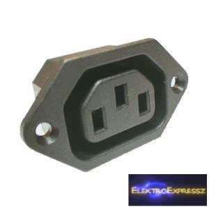 ET-2081 3 pólusú AC táp aljzat. beépíthető