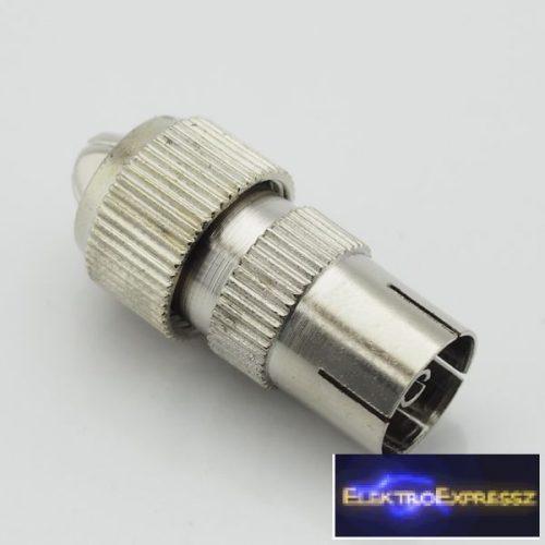 ET-1006 Koax fém aljzat. Csavaros kivitelben.